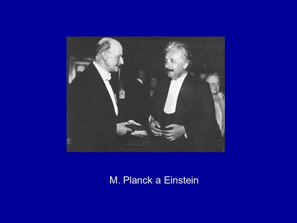 M. Planck a Einstein