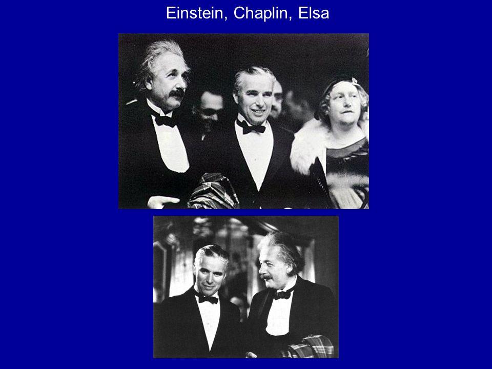 Einstein, Chaplin, Elsa