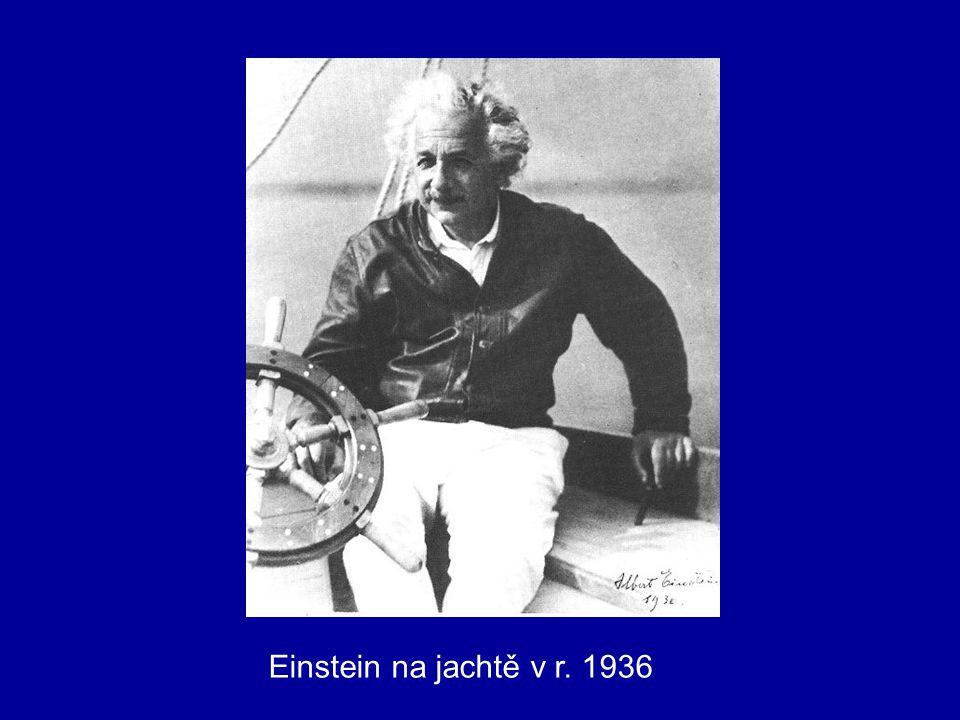 Einstein na jachtě v r. 1936