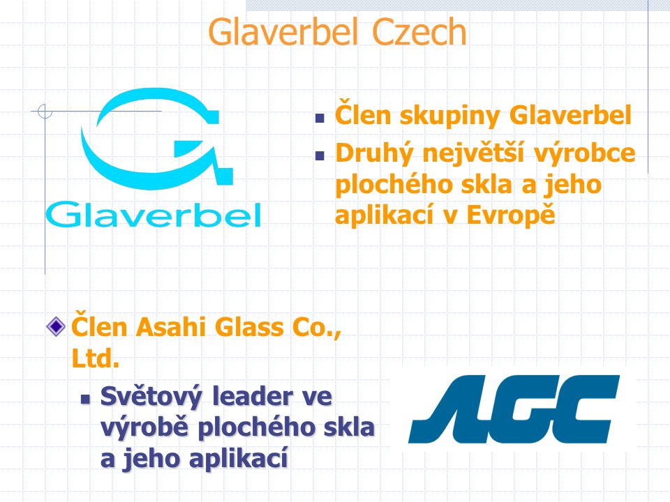 Glaverbel Czech Člen skupiny Glaverbel