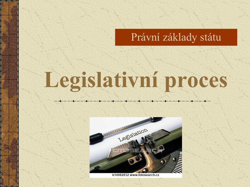 Právní základy státu Legislativní proces
