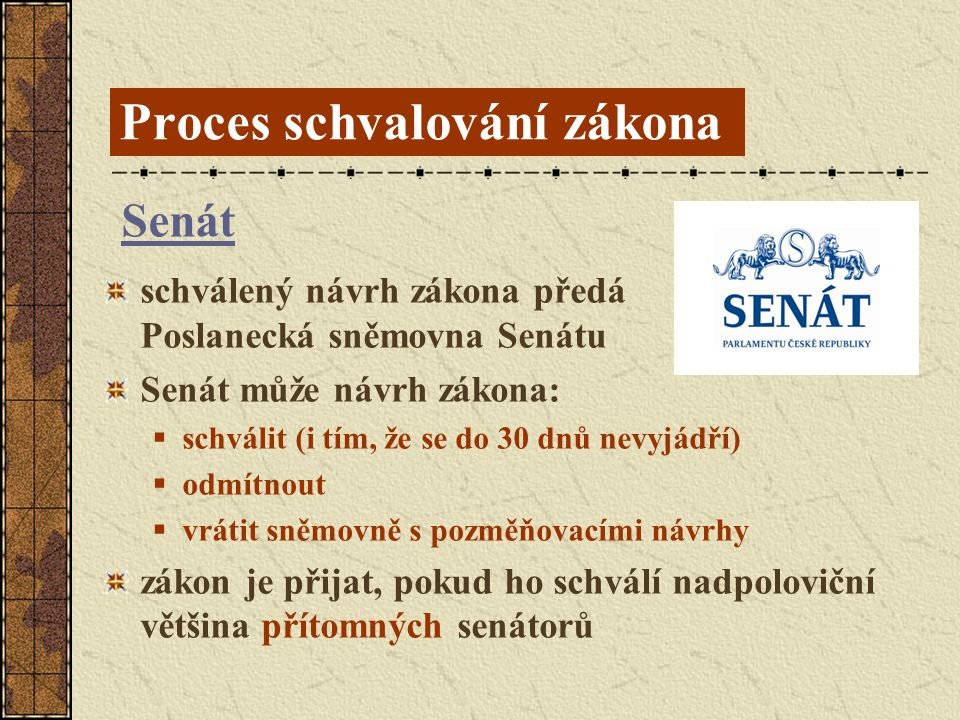 Proces schvalování zákona
