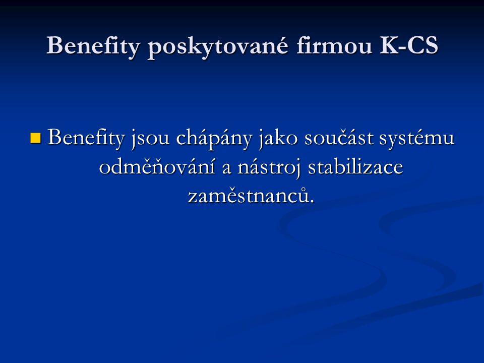 Benefity poskytované firmou K-CS