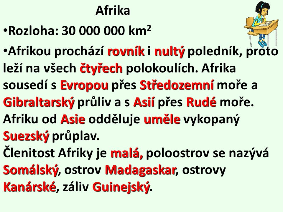 Afrika Rozloha: 30 000 000 km2.