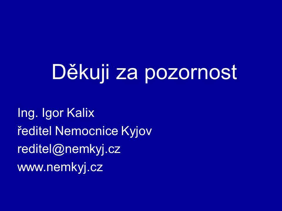 Děkuji za pozornost Ing. Igor Kalix ředitel Nemocnice Kyjov