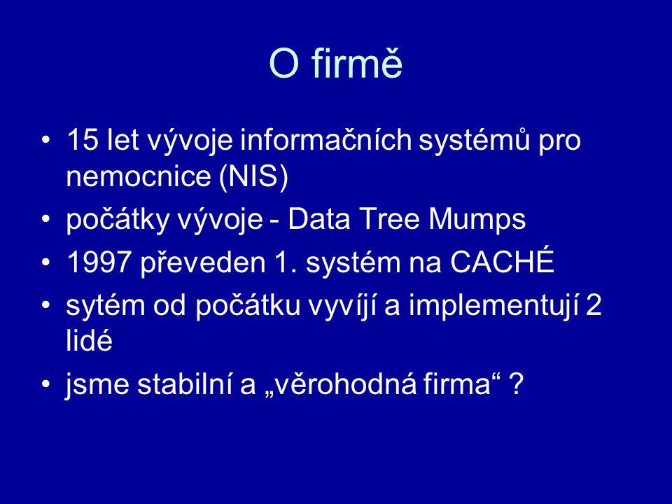 O firmě 15 let vývoje informačních systémů pro nemocnice (NIS)