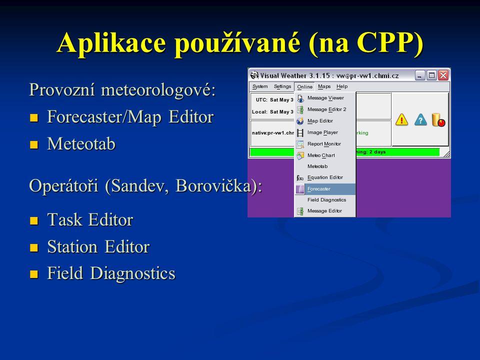 Aplikace používané (na CPP)