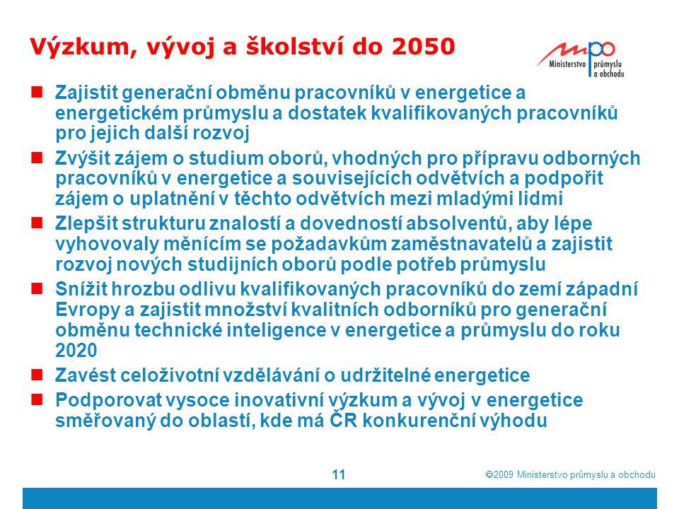 Výzkum, vývoj a školství do 2050