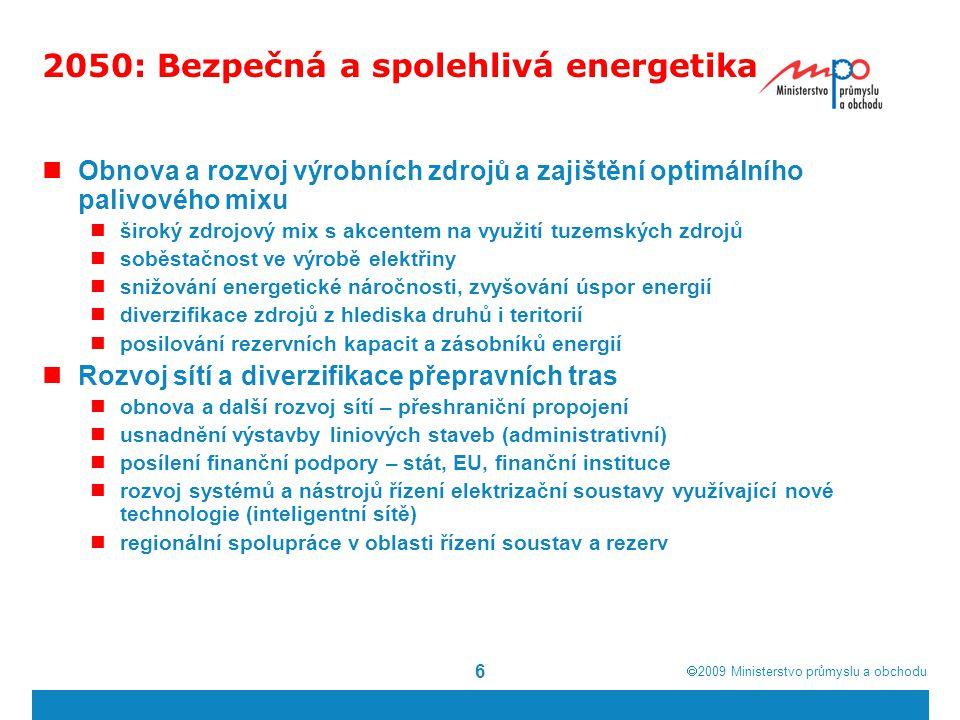 2050: Bezpečná a spolehlivá energetika