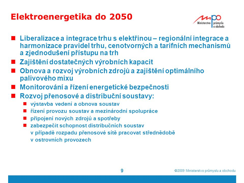 Elektroenergetika do 2050