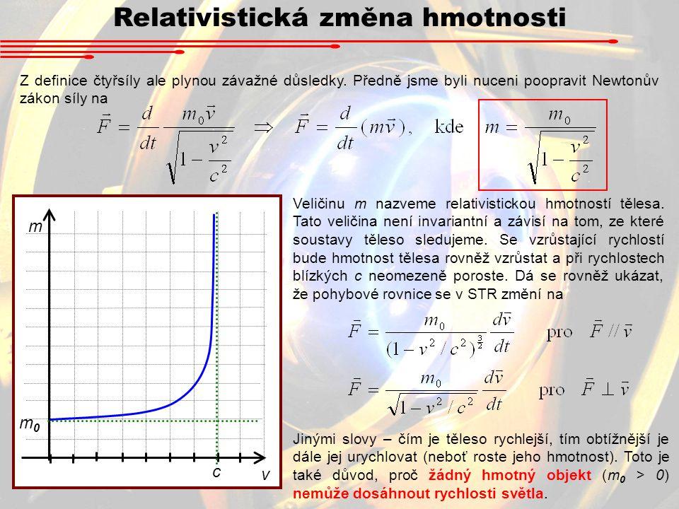 Relativistická změna hmotnosti