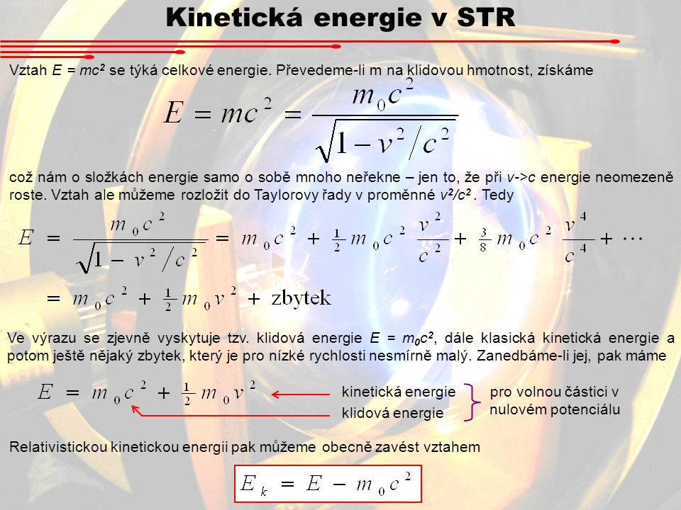 Kinetická energie v STR