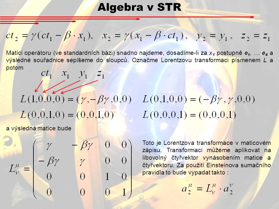 Algebra v STR
