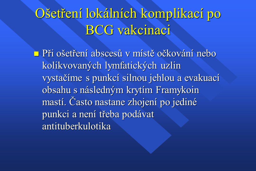 Ošetření lokálních komplikací po BCG vakcinaci