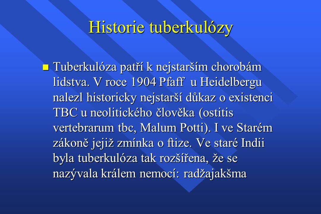 Historie tuberkulózy