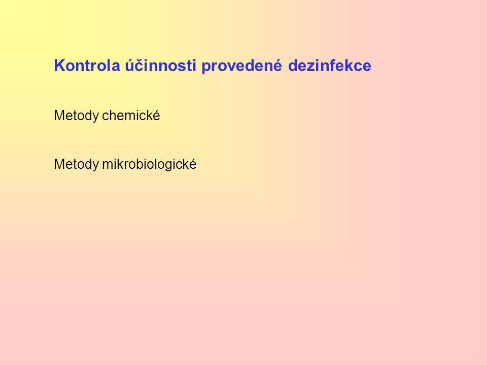 Kontrola účinnosti provedené dezinfekce