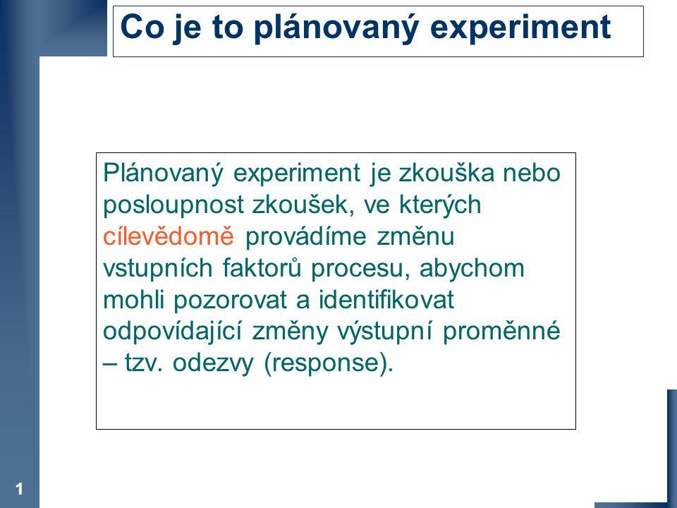 Co je to plánovaný experiment