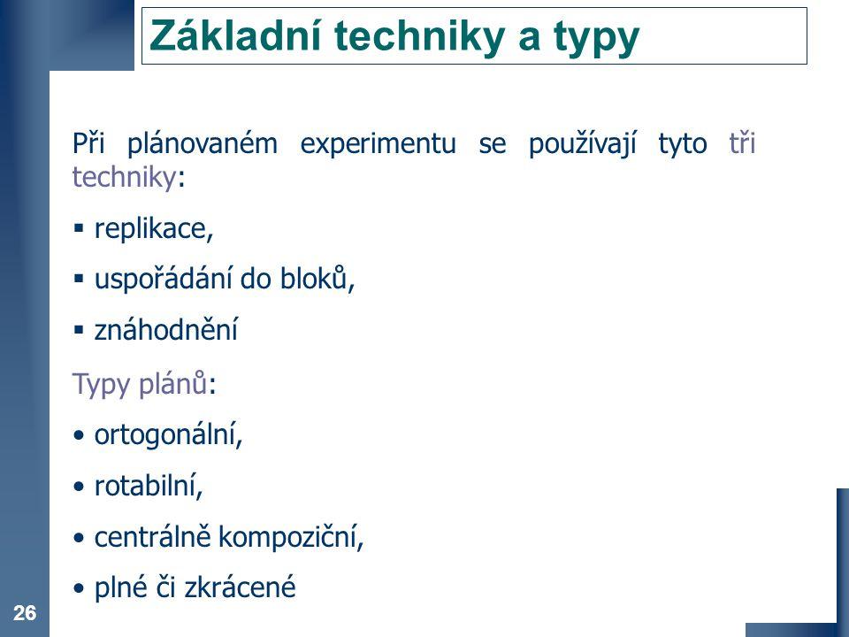 Základní techniky a typy