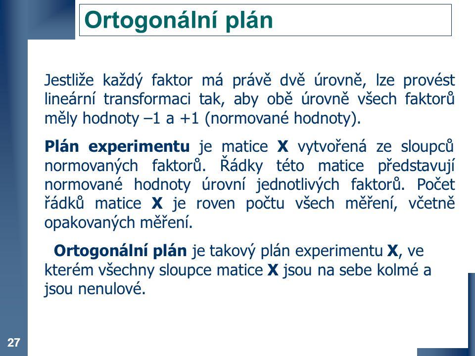 Ortogonální plán