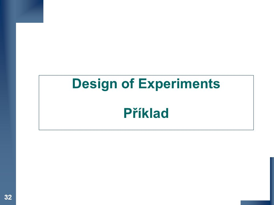 Design of Experiments Příklad