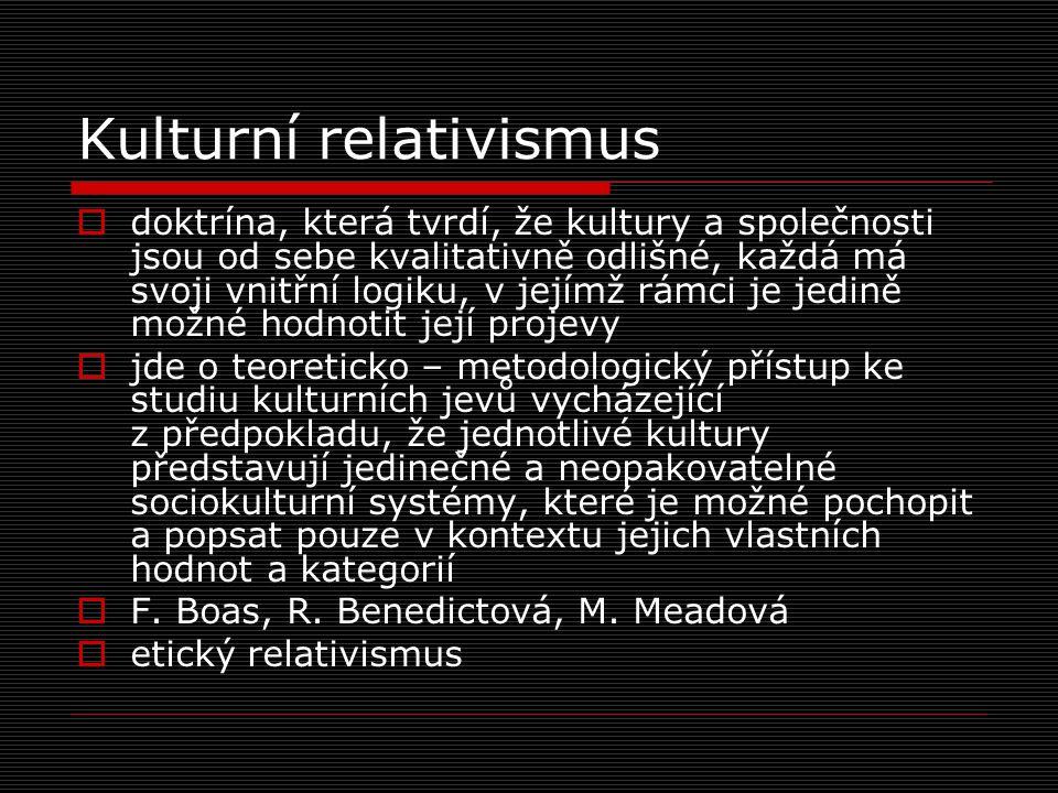 Kulturní relativismus