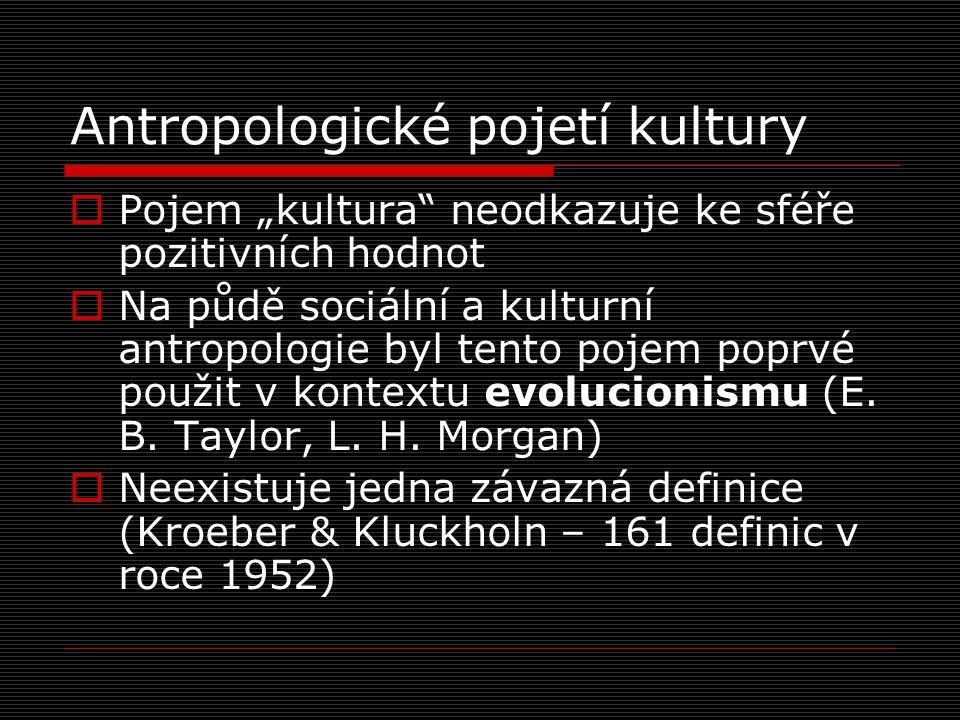 Antropologické pojetí kultury
