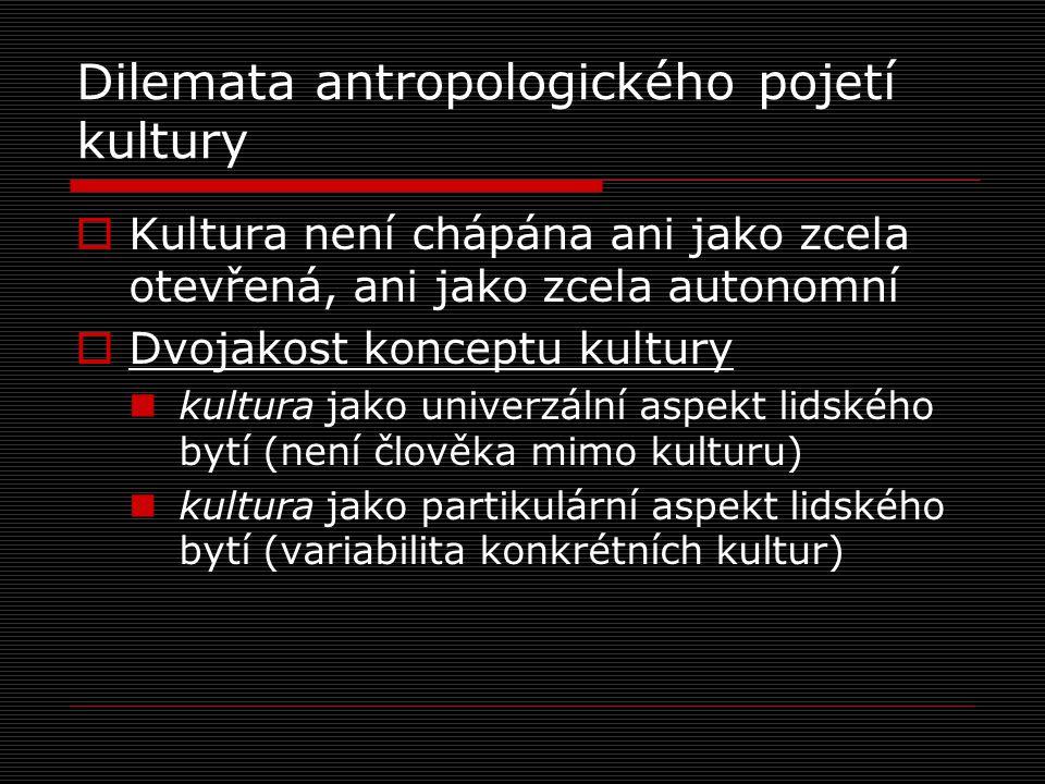 Dilemata antropologického pojetí kultury