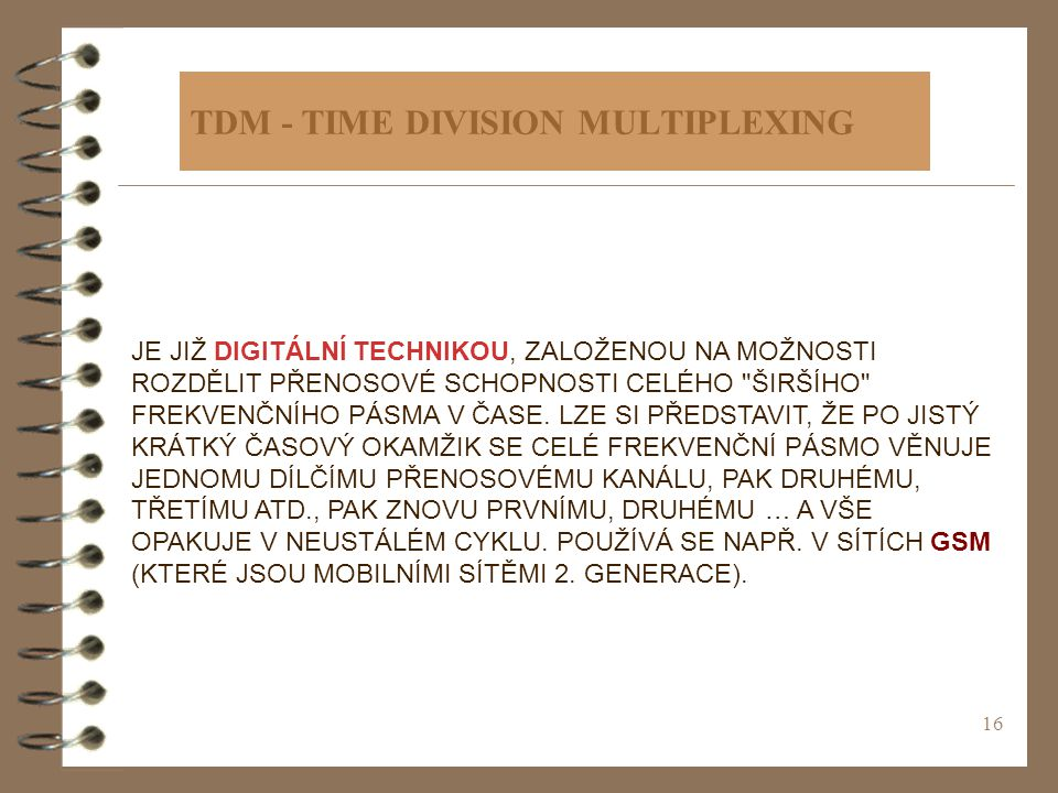 TDM - TIME DIVISION MULTIPLEXING