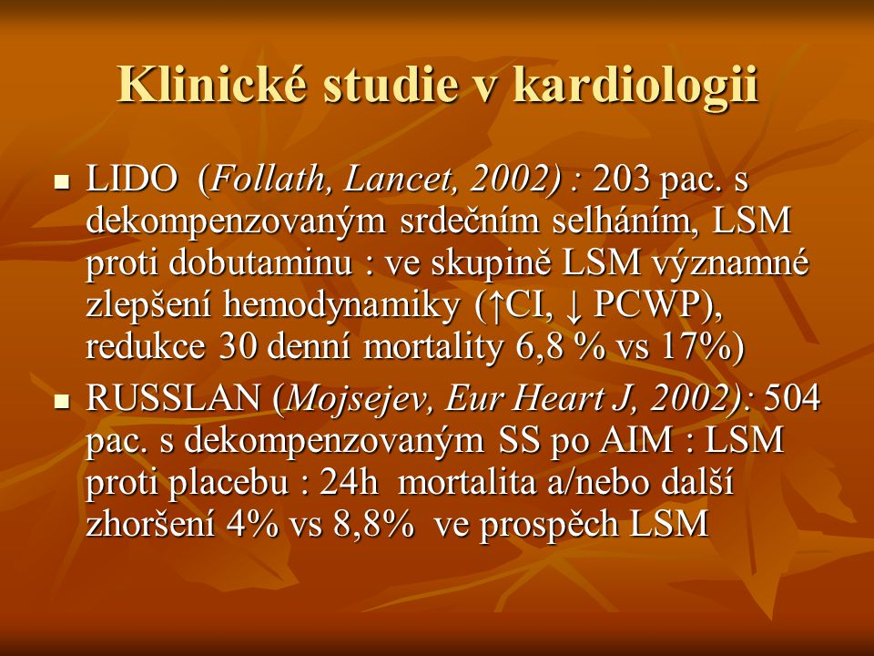 Klinické studie v kardiologii