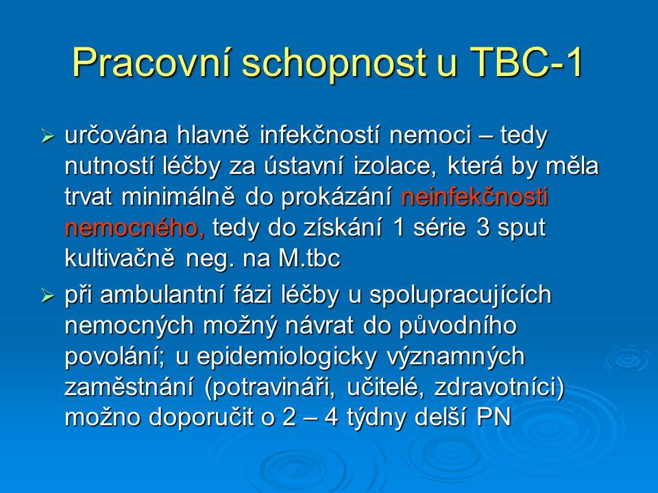 Pracovní schopnost u TBC-1