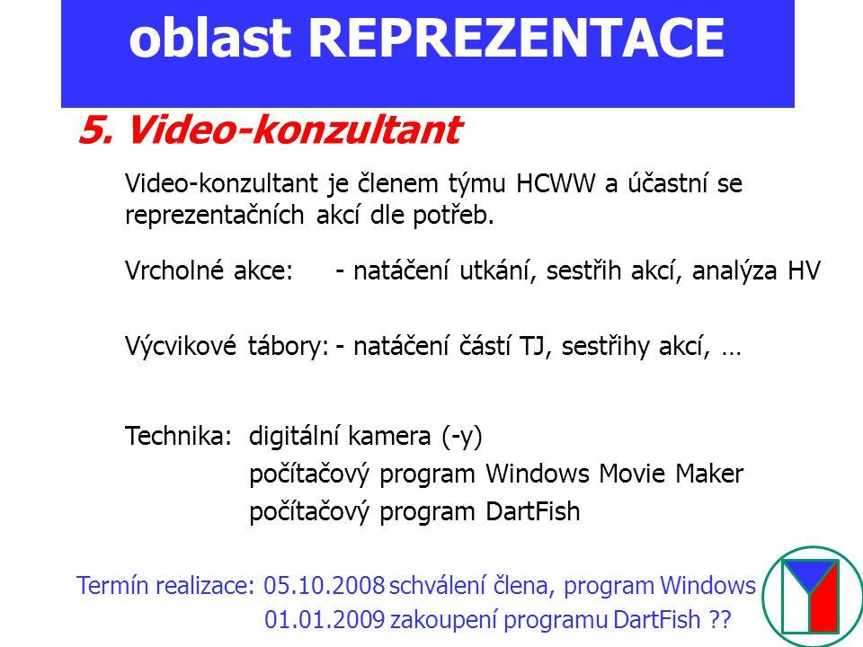 oblast REPREZENTACE 5. Video-konzultant