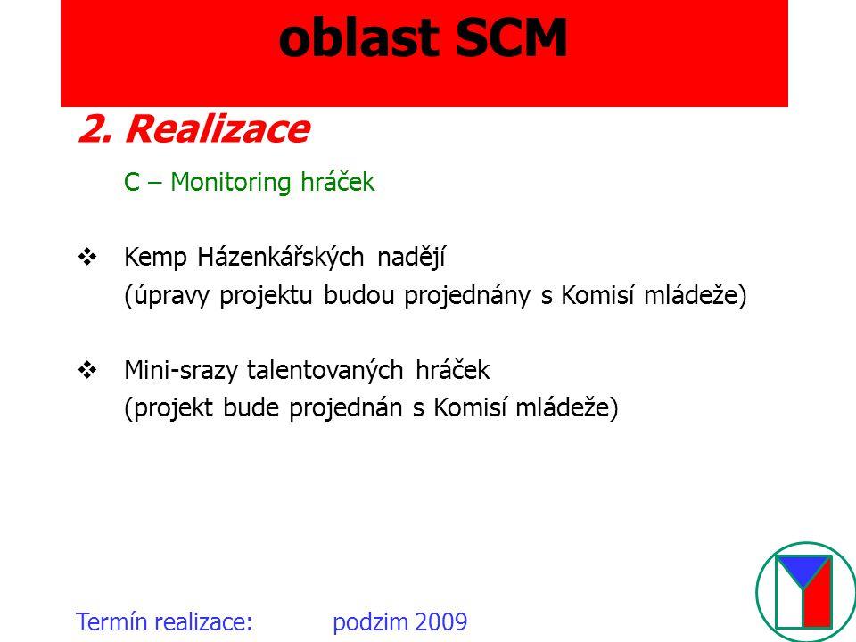 oblast SCM 2. Realizace C – Monitoring hráček