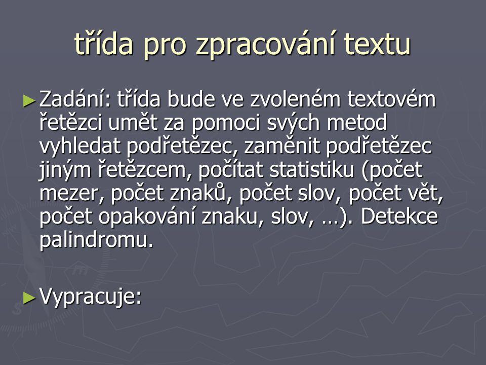 třída pro zpracování textu