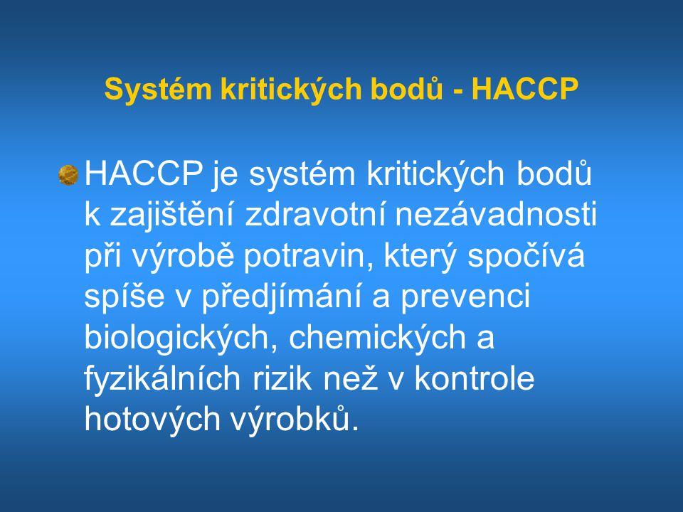 Systém kritických bodů - HACCP
