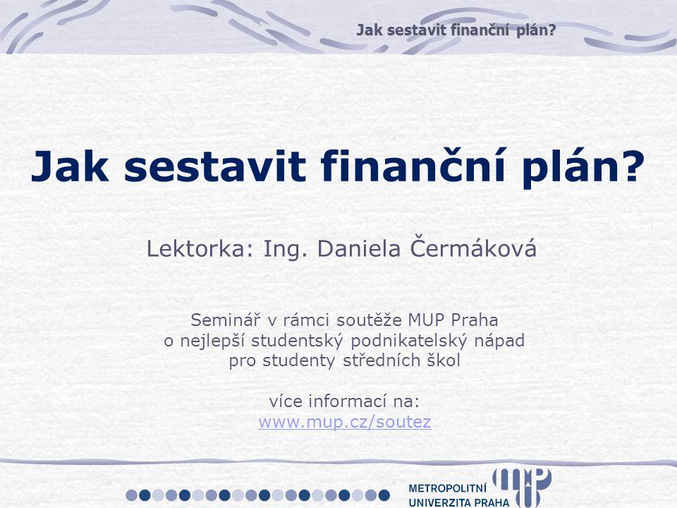 Jak sestavit finanční plán