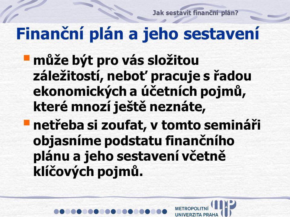 Finanční plán a jeho sestavení