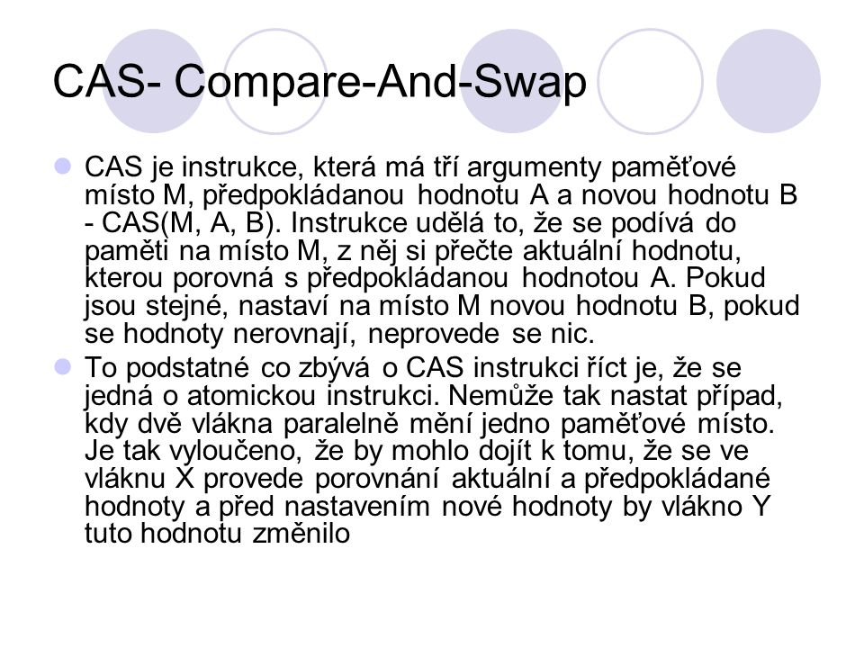 CAS- Compare-And-Swap
