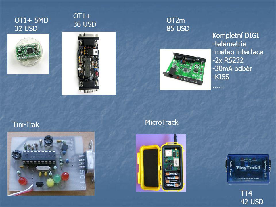 OT1+ 36 USD. OT1+ SMD. 32 USD. OT2m. 85 USD. Kompletní DIGI. -telemetrie. -meteo interface. -2x RS232.