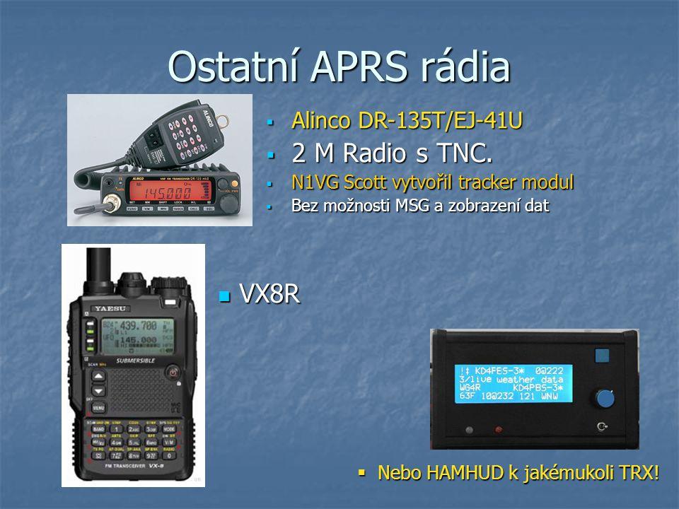 Ostatní APRS rádia 2 M Radio s TNC. VX8R Alinco DR-135T/EJ-41U