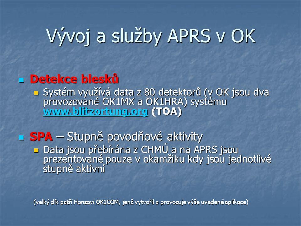 Vývoj a služby APRS v OK Detekce blesků