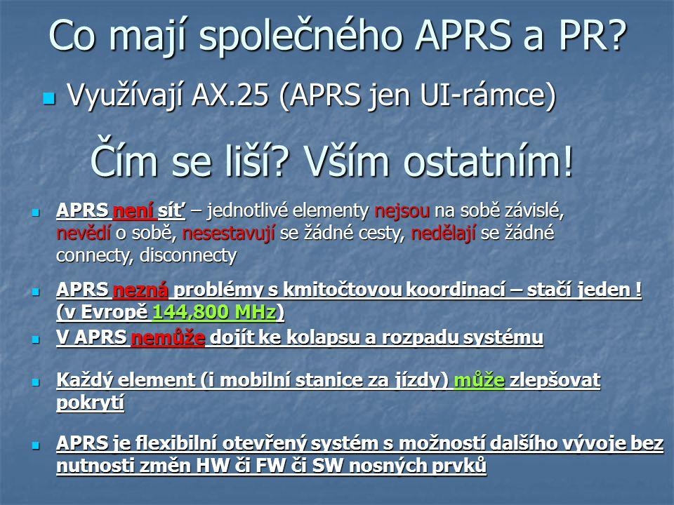 Co mají společného APRS a PR