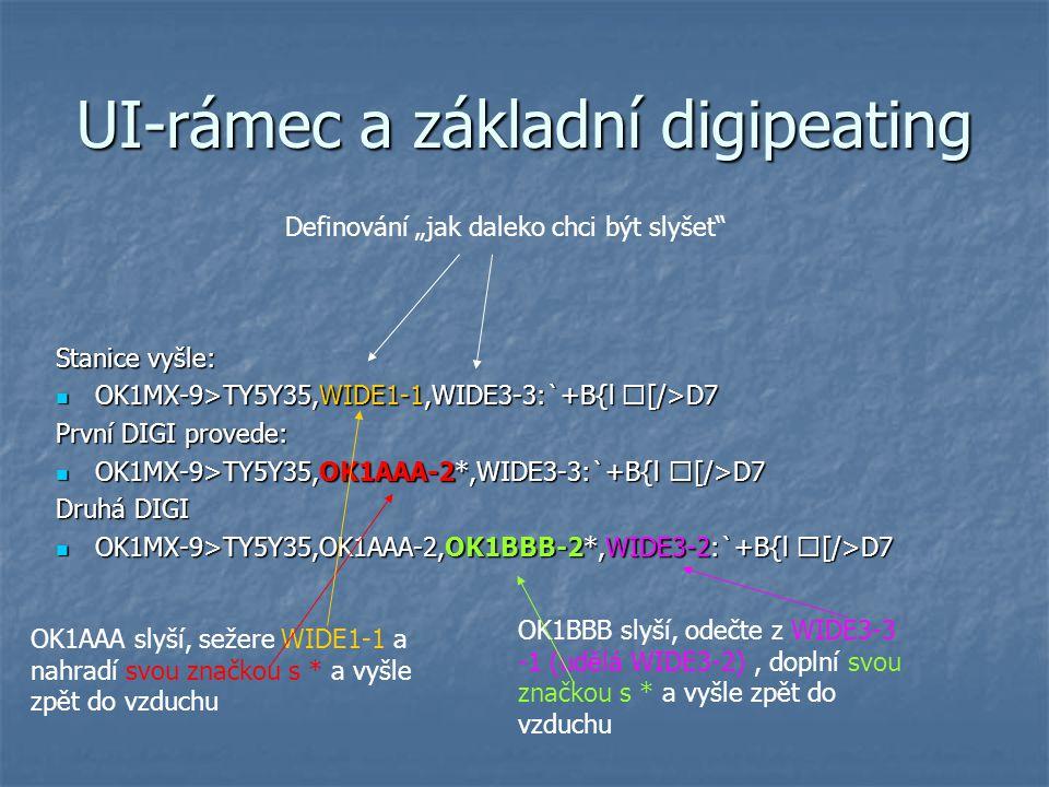 UI-rámec a základní digipeating