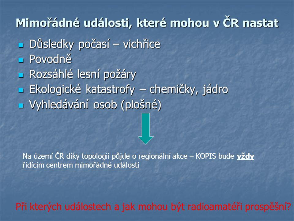 Mimořádné události, které mohou v ČR nastat