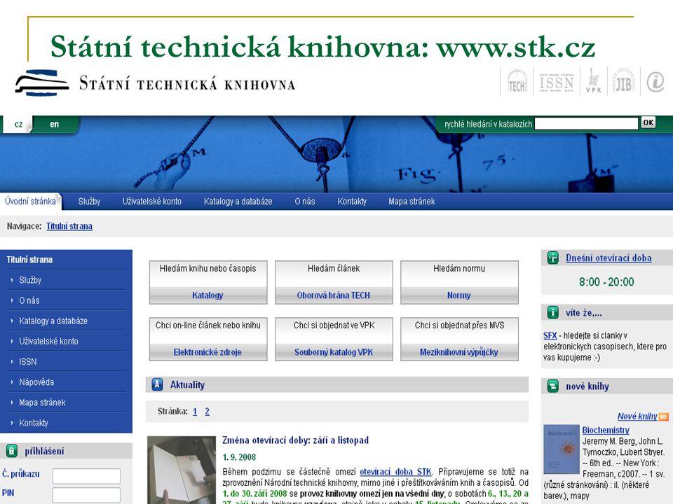 Státní technická knihovna: www.stk.cz