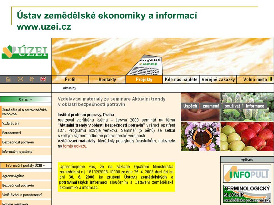 Ústav zemědělské ekonomiky a informací www.uzei.cz