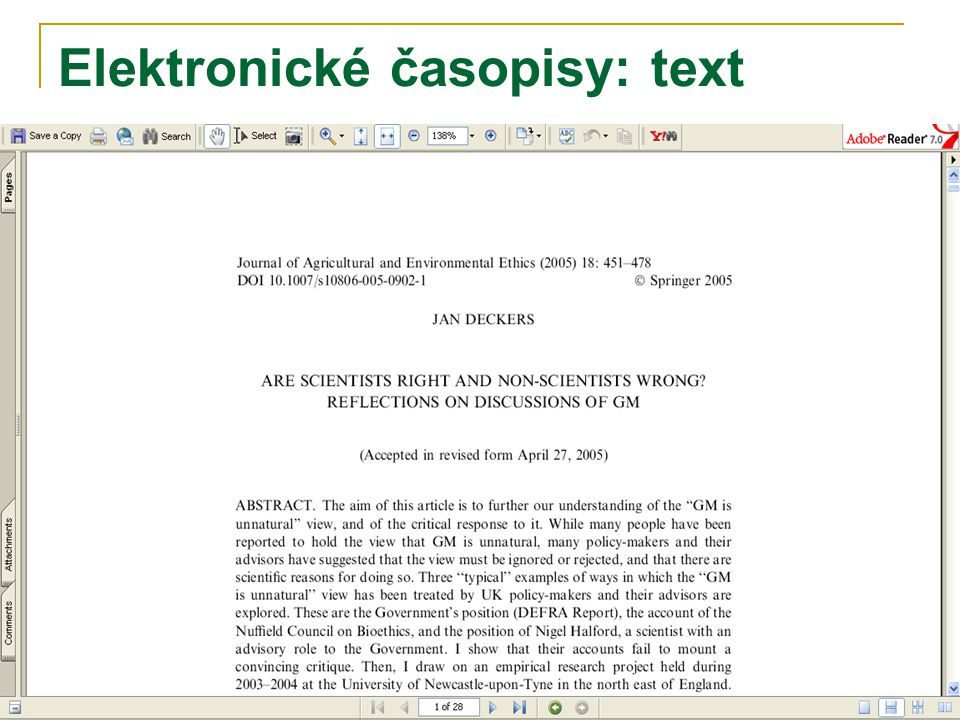 Elektronické časopisy: text