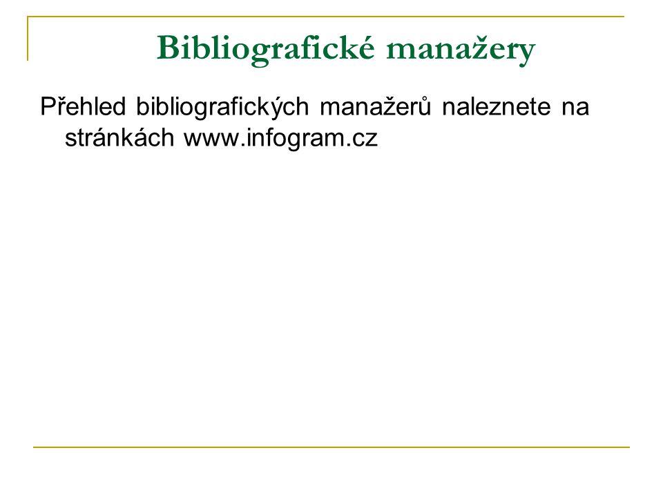 Bibliografické manažery