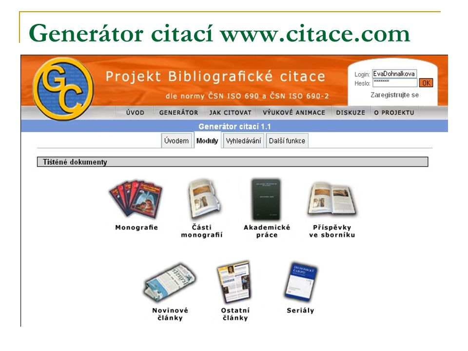 Generátor citací www.citace.com