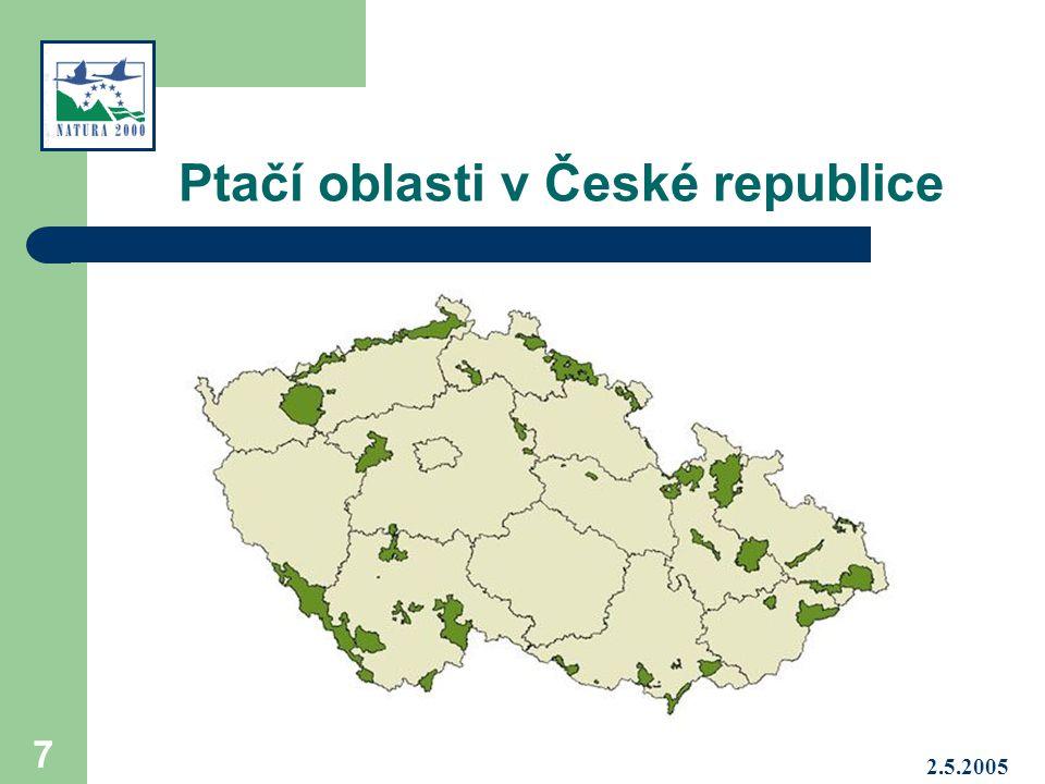 Ptačí oblasti v České republice