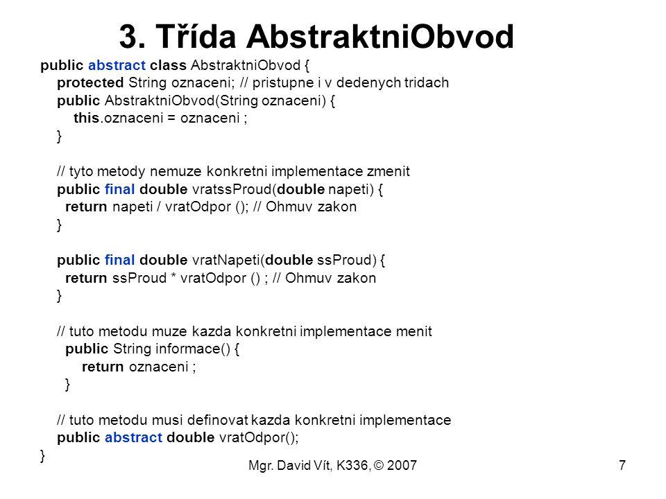 3. Třída AbstraktniObvod